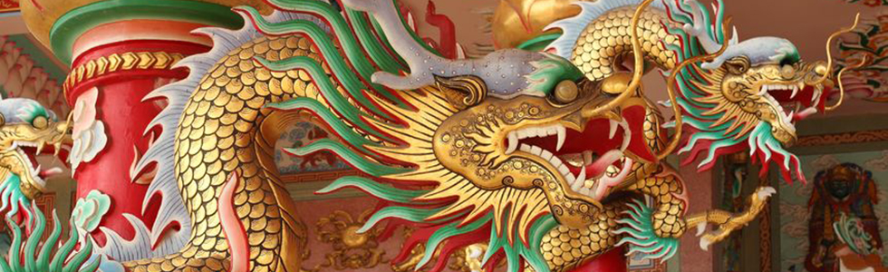 The golden China dragon
